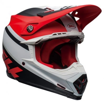 Casco Bell Moto-9 Mips Prophecy Mat White Red BK